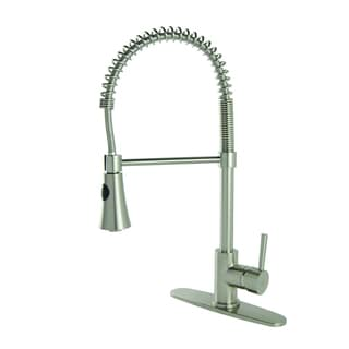 Modern Residential Coil Spring Brushed Nickel Kitchen Faucet