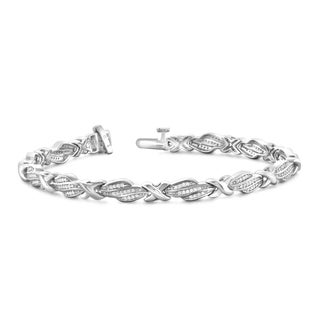 Jewelonfire Sterling Silver 1/2ct TDW Round-cut White Diamond Bracelet