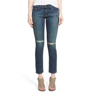 Rag Bone Women's Tomboy Blue Cotton Skinny Boyfriend Jeans