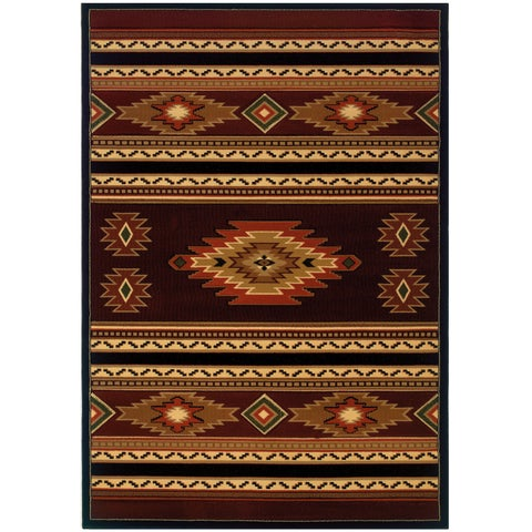 "Wildwood Rylee Terracotta Hand-carved Accent Rug - 2'7"" x 4'"