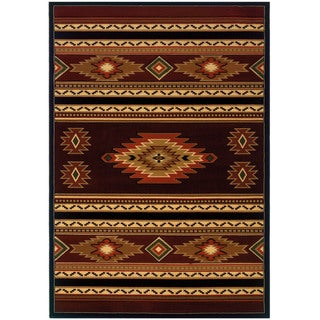 "Wildwood Rylee Terracotta Hand-carved Accent Rug (2'7 x 4'2) - 2'7"" x 4'"