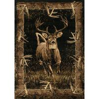 """Wildwood Regal Run Toffee Hand-carved Accent Rug - 2'7"""" x 4'"""