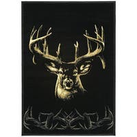 """Wildwood Regal Gaze Multi Hand-carved Accent Rug - 2'7"""" x 4'"""