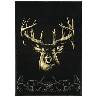 Wildwood Regal Gaze Multi Hand-carved Accent Rug (2'7 x 4'2)