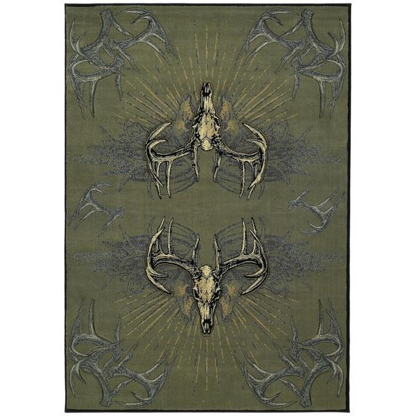 """Wildwood Golden Horns Multi Hand-carved Runner Rug (2'7 x 7'4) - 2'7"""" x 7'3"""""""