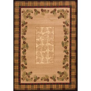 Westfield Home Wildwood Plaid Pines Toffee Olefin Hand-carved Area Rug (5'3 x 7'6)|https://ak1.ostkcdn.com/images/products/14520549/P21074860.jpg?impolicy=medium