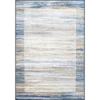 Twilight Blue/ Grey Area Rug - 6'7 x 9'6