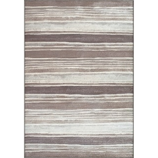Twilight Multi Brown Silver Rug (6'7 x 9'6 )