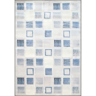 Twilight Blue/ Cream Area Rug ( 6'7 x 9'6 )