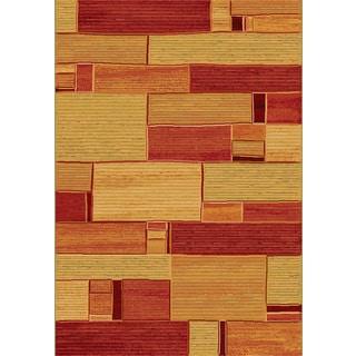 Twilight Multi Brick Area Rug (5'3 x 7' 7 )