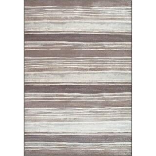 Twilight Brown Silver Area Rug (5'3 x 7' 7 )