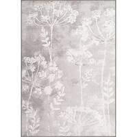 Twilight Floral Ivory Area Rug (5'3 x 7' 7 )