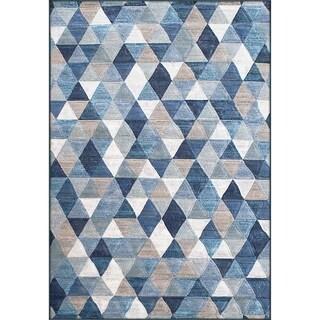 Twilight Blue/ Multi Area Rug (5'3 x 7' 7 )