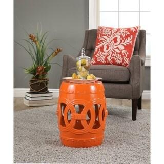 Abbyson Moroccan Orange Garden Stool