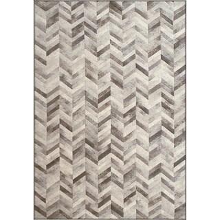 Twilight Silver Area Rug (3'11 x 5' 7 )