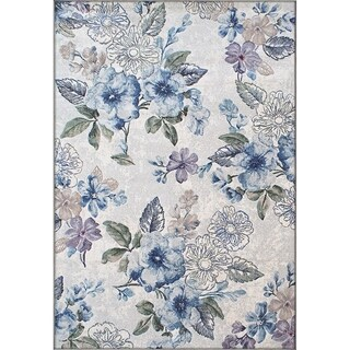 Twilight Cream Blue Area Rug (3'11 x 5' 7 ) (As Is Item)