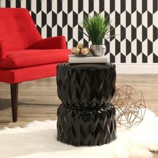 Abbyson Living Hayden Black Ceramic Garden Stool