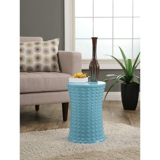 Abbyson Zoe Turquoise Ceramic Garden Stool