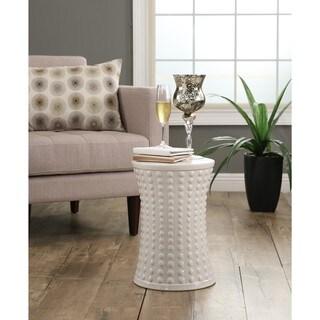 Abbyson Zoe White Ceramic Garden Stool