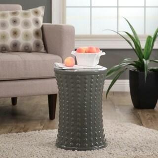 Abbyson Living Zoe Grey Ceramic Garden Stool
