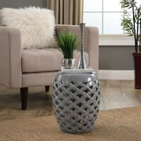 Abbyson Oakley Grey Ceramic Garden Stool