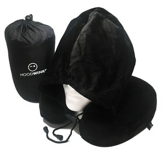 Best Luxury U-Shoped Black Memory Foam Hoodie Neck Pillow