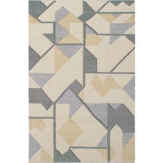 eCarpetGallery Ivory Wool Handwoven Sedona Kilim Rug (4'11 x 7'10)