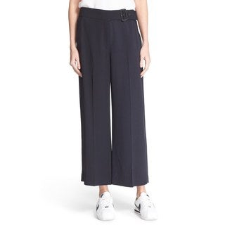 A.L.C. Women's Emily Navy Gaucho Belted Pants