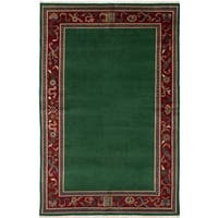 Ecarpetgallery Peshawar Ziegler Green Wool and Cotton Hand-Knotted Rug (5' x 7'9)