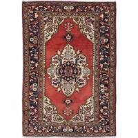 eCarpetGallery Bakhtiar Brown Wool Hand-knotted Rug (4'6 x 6'6)