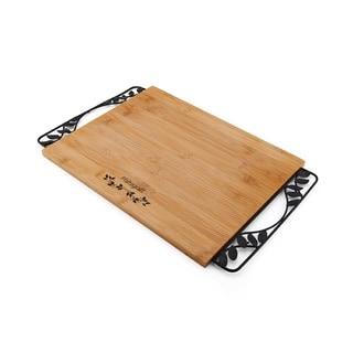 Pfaltzgraff Rustic Leaf Board With Metal Handles