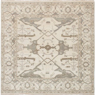 Ecarpet Gallery Hand-Knotted Royal Ushak Yellow Wool Rug (8' x 8')