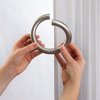 Umbra Halo Nickel Finish Steel Window Curtain Holdback