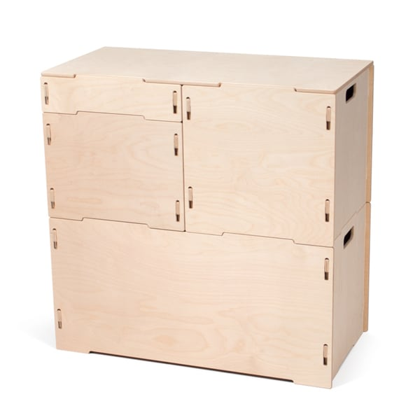 Wood Stackable Art And Craft Storage Cabinet