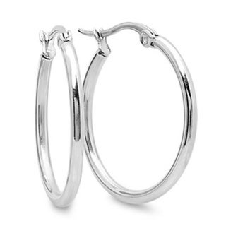 Stainless Steel Rounded Hoops Earrings