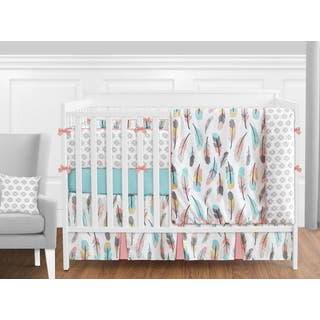 Sweet Jojo Designs Feather Collection 9-piece Crib Bedding Set|https://ak1.ostkcdn.com/images/products/14521033/P21075313.jpg?impolicy=medium
