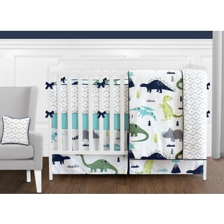Sweet Jojo Designs Blue and Green Mod Dinosaur Collection 9-piece Crib Bedding Set