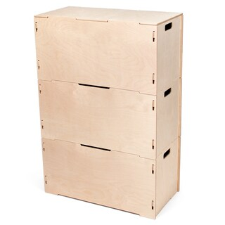Wooden Large Storage Tote Boxes with Lid