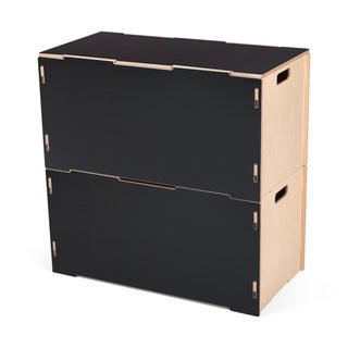 Wooden Large Storage Tote Box with Lid