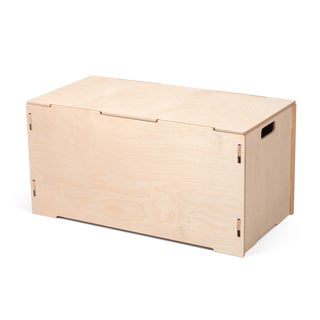 Wooden Large Storage Tote Box with Lids