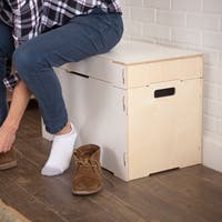 Small Wooden Storage Bench