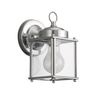 Sea Gull New Castle 1 Light Antique Brushed Nickel Outdoor Fixture