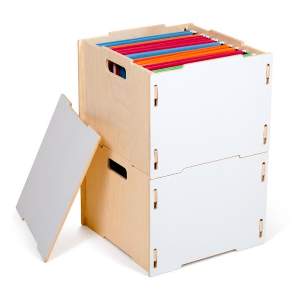 Shop Modern Wood Hanging File Boxes - Free Shipping Today