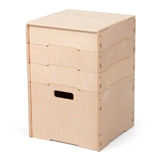 Wood Stackable Art and Craft Storage Boxes