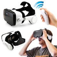 Oct17 3D VR Z4 4th Glasses Box Headphones Earphones Goggles with Bluetooth Remote Control For IOS Android Iphone