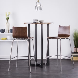 Holly & Martin 29 inch Blence Barstool (Set of 2) - Walnut