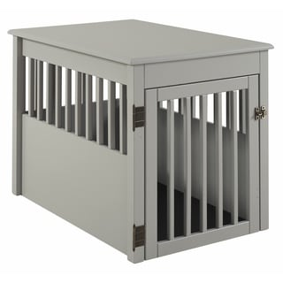 Ruffluv Large Pet Crate End Table