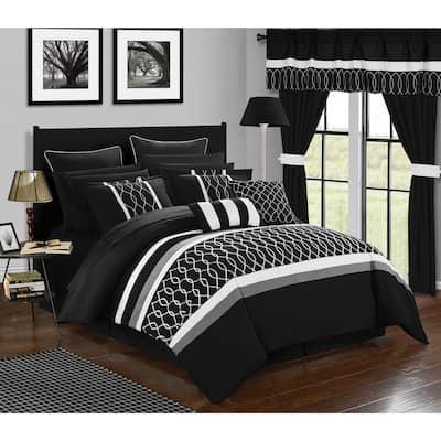 Chic Home 24-Piece Lance Bed In a Bag Comforter Set, Black