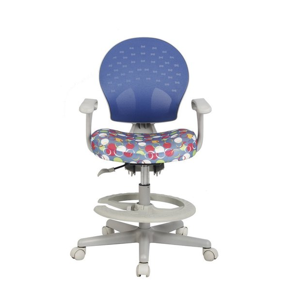 Viva Office Blue And White Mesh Childrenu0027s Desk Chair With Adjustable  Height And Depth And Detachable