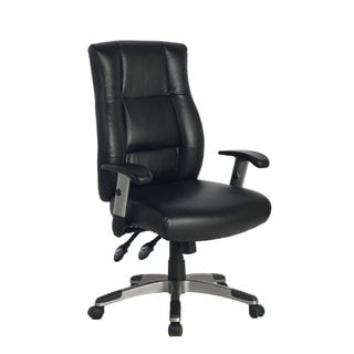 Viva Office Ergonomic High Back Bonded Leather Executive Office Chair with Soft Spring Pack